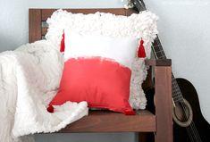 Bohemian Tassel Pillow DIY --  Me Sew Crazy @mesewcrazy