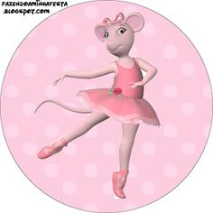 Angelina Bailarina - Kit Completo com molduras para convites, rótulos para guloseimas, lembrancinhas e imagens!