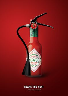 Tabasco - Beare the Heat Clever Advertising, Advertising Design, Product Advertising, Advertising Agency, Ads Creative, Creative Posters, Creative Business, Food Graphic Design, Design Design
