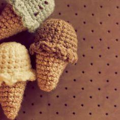 Patrones Amigurumi: Mini helados