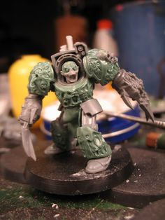 some really brilliant green stuff work on this otherwise standard Terminator has made him into something really special.