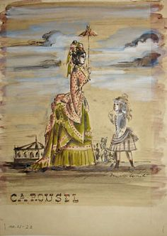 Costume designs for the original Broadway production of Carousel, 1945, Miles White