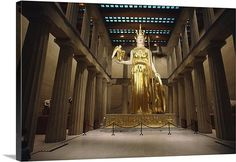 Attack of the forty foot goddess: Statue of Athena Parthenos, Alan LeQuire sculptor, The Parthenon, Nashville