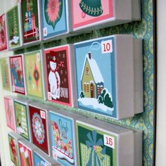 My Darlings And Me: DIY Advent Calendar Ideas, could use vintage christmas cards for pictures on the front of each box