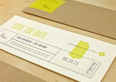 A super cute idea for Save the Dates. I love the bookmark size and envelopes.