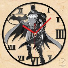 Hey, I found this really awesome Etsy listing at https://www.etsy.com/listing/128192000/vinyl-wall-clock-batman