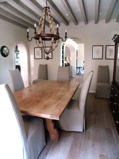 Interior designer Beth Webb uses ROMA lime wash on floors and beams. Painted Plywood Floors, Painted Beams, White Wash Brick, Scandi Home, Wooden Projects, Decoration, Interior Inspiration, Home And Family, Dining Rooms