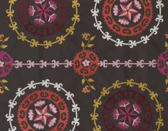 Pierre Frey: Tachkent in Chocolat. like this print Fabric Patterns, Print Patterns, Pierre Frey Fabric, Decoration, Ikat, Earthy, Home Accessories, Product Launch, Textiles