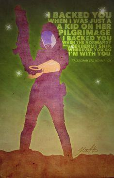 Mass Effect Posters - Tali\'Zorah by A-negative on deviantART