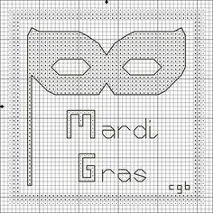 Image detail for -Free Mardi Gras Mask and Saying Cross Stitch Pattern - Free Mardi Gras ...