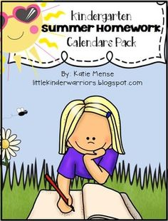 This packet includes everything your Kinders will need to work on their skills over the summer to help them prepare for 1st grade! The activities that are on the calendar are all a review of the math, writing and literacy skills that we have worked on throughout Kindergarten.