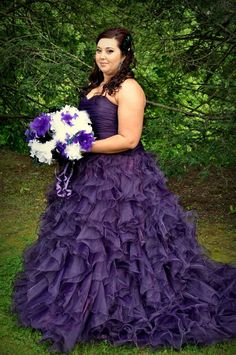 Gorgeous Purple Wedding Dress Custom Made by WeddingDressFantasy, $659.00