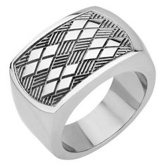 Inox Jewelry Men's Stainless Steel Chess Pattern Ring INOX Jewelry. $31.50. 316L Surgical Grade Stainless Steel
