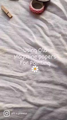 Newspaper Painting, Paint Chip Art, Hand Lettering Art, Deep Thinking, Watercolor Landscape Paintings, Color Pencil Art, Embroidery Fashion, Diy Canvas Art, Watercolor Techniques