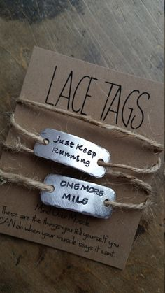 personalized running shoe tags {one SINGLE or SET of TWO options}   .   {lace tags} running shoe tags . runners gift for runner                                                                                                                                                                                 More