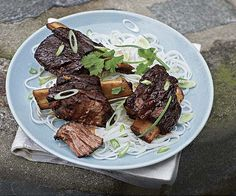 Barbecue-Braised Vietnamese Short Ribs with Sweet Vinegar Glaze by Fine Cooking