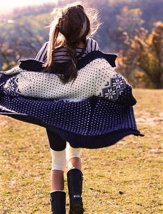 Fair isle #knitting inspiration. (Michelle McCallum by Zoltan Tombor for Grazia Italy)