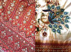 Once Upon A Tea Time.... Design Stories  Riiti Fashion #embroidery #sari #silk  #peacock