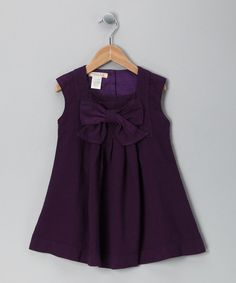 Look what I found on #zulily! Cavelle Kids Eggplant Harp Linen-Blend Dress - Toddler by Cavelle Kids #zulilyfinds