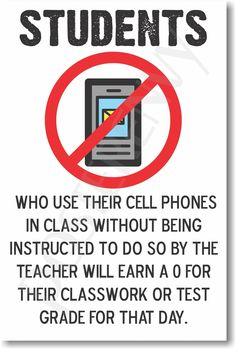 PosterEnvy.com - Students Who Use Their Cell Phones In Class - NEW Classroom Poster, $8.99 (http://www.posterenvy.com/students-who-use-their-cell-phones-in-class-new-classroom-poster/)