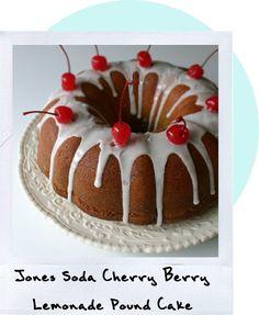 Jones Soda Cherry Berry Lemonade Pound Cake--sweet cake