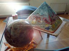 Different Moon Pyramid Orgonite 24 cm