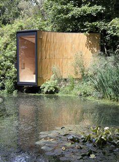 TDO . forest pond house