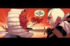 deadpool killing the skinless man! about time aftr wht he did to fantomex im very happy that wade gave him what he deserves. uncanny x-force