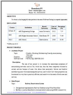 2 Page Resume Format Mba Information Technology Resume Format Page 2  Career