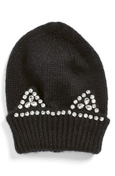 Berry 'Jeweled Kitty' Beanie available at #Nordstrom