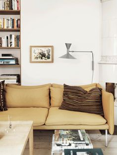 Beige and yellow in a calming environment - via cocolapinedesign.com