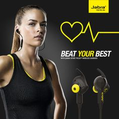 Jabra Promo Sport Pulse Wireless Earbuds #earbuds #sport #pulse #hrm