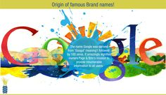 Do you know the origin of this famous Brand name?  ‪#‎Google‬ ‪#‎famousbrandfacts‬
