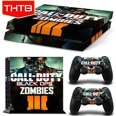 Video Game Accessories Cod Zombies Wwii Sticker Console Decal Playstation 4 Controller Vinyl 1 Ps4 Skin Faceplates, Decals & Stickers