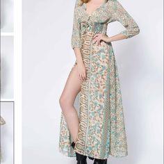 Maxi dress Material is sheer. New similar to free people but not free people. Free People Dresses Maxi