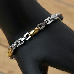 Golden Rollers Bracelet : Steel Bracelets