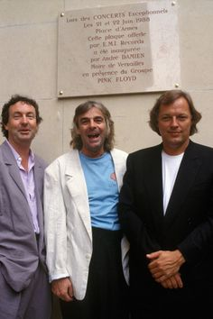 David Gilmour, Nick Mason and Rick Wright, 1987 David Gilmour Pink Floyd, Arte Pink Floyd, Musica Punk, Rock And Roll History, Richard Wright, Mozart, Psychedelic Music, Roger Waters, Everything Pink