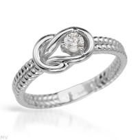 New 0.15 CTW SI2 enhanced Color J Diamond Gold Ring Size 7 Free Shipping $279.00