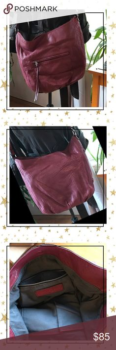 "Big Beautiful & Burgundy💕Treasure & Bond💕💋 Gorgeous burgundy leather crossbody by Treasure & Bond💕🦋🌵This purse is truly alluring and highly functional💕💋🦋Measures 17""13""x3"" Hobo style🦋Simply fabulous🌻🌵🦋💕Signs of normal use, great condition 💕🦋💋 Treasure & Bond Bags Crossbody Bags"