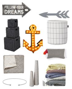 """""""Arrows @nc4you"""" by nc4you on Polyvore featuring interior, interiors, interior design, Zuhause, home decor, interior decorating, Sass & Belle, West Elm, ferm LIVING und Home Decorators Collection"""