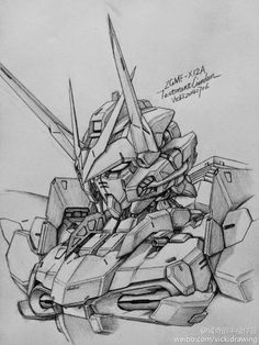 Gundam and Mobile Suit Pencil Drawings by Vicki of PIXIV - Gundam Kits Collection News and Reviews