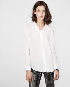 Fließendes Hemd ohne Kragen - Blusen - The Kooples
