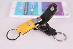 Usb flash drive cuoio e metallo  pendrive, di modo creativo usb