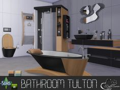 Simcredible designs call of the wild bedroom sims 4 for Bathroom design simulator