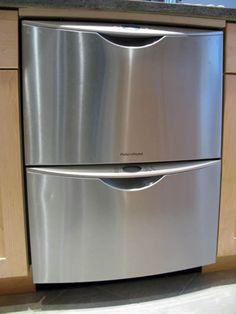 Double Drawer Dishwasher, Small Dishwasher, Portable Dishwasher, Dishwasher Cover, Kitchen Redo, New Kitchen, Kitchen Remodel, Kitchen Design, Modern Kitchens