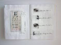 Pages from handmade book by Ifigeneia Sdoukou