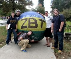 Plattsburgh State College's Zeta Beta Tau (ZBT) fraternity has gotten the ball rolling. Since Monday, the fraternity has been rolling a large, colorful ball around campus in a fundraiser for the Children's Miracle Network. Donations will go to Vermont Children's Hospital, a CMN affiliate.