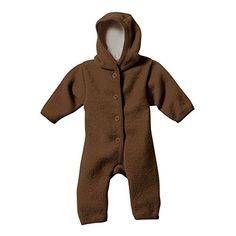 Disana Baby Boys Organic Boiled Wool Snugglesuit Overall Pramsuit 8692 1224M Hazelnut *** Learn more by visiting the image link. (This is an affiliate link) #BabyBoyFootiesandRompers