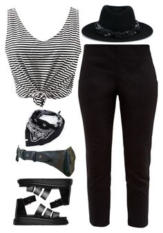 Untitled #318 by froyalbiatsii on Polyvore featuring WithChic, Ted Baker, Dr. Martens, Maison Michel and Urban Outfitters