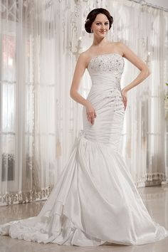 Mermaid Trumpet Wedding Dresses, Beaded Wedding Gowns, Wedding Dresses For Sale, Bridal Dresses, Bridesmaid Dresses, Prom Dresses, Mermaid Wedding, One Shoulder Wedding Dress, Chapel Train